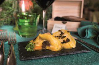 Ravioli di tartufo nero e zucca, un primo dal gusto intenso