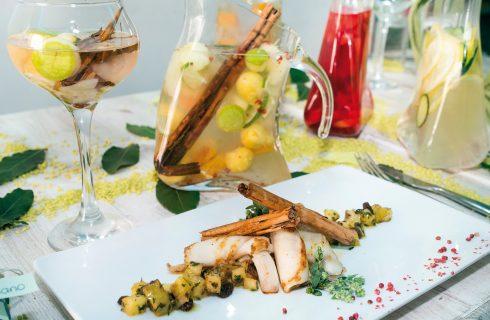 Riccioli di calamari e chutney di ananas e cardamomo, un secondo esotico e delizioso