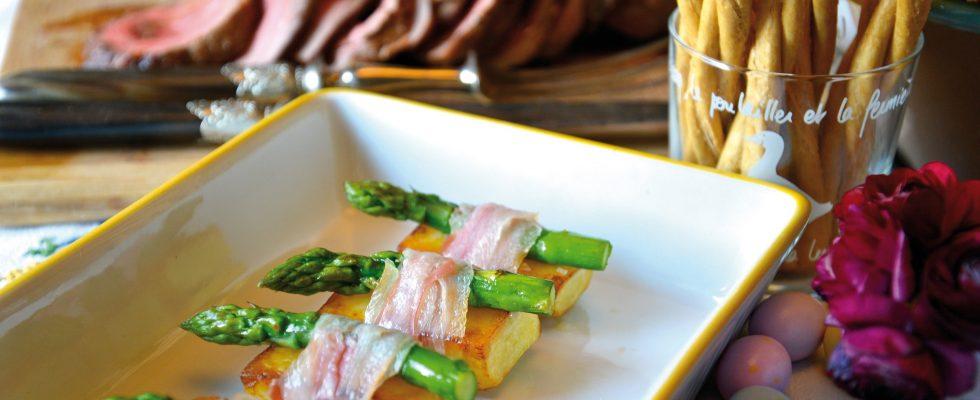 Roastbeef con bauletti di patate e asparagi, un secondo nutriente e sfizioso