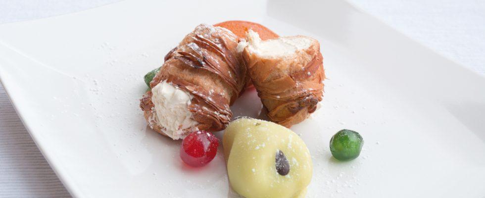 Sfogliatina con crema al cynar, rileggere tradizione napoletana
