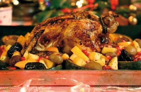 Pollo ripieno con frutta, un secondo per le feste