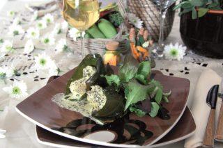 Tacchino allo zenzero e zafferano cotto nella foglia del platano, un secondo piatto esotico