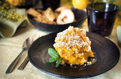 Torta mimosa alle carote e farro, un dolce elaborato e delizioso