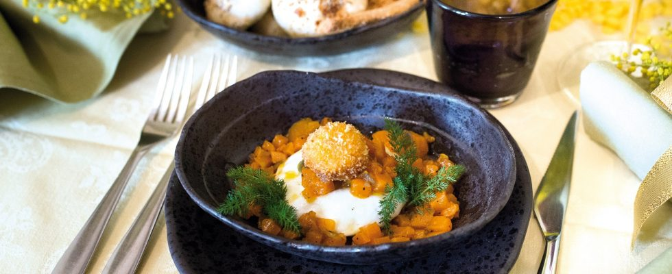 Uovo mimosa, un antipasto raffinato e scenografico