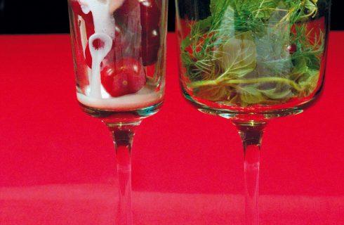 Variegato alle ciliegie con erbe aromatiche, un dolce al cucchiaio fresco e veloce