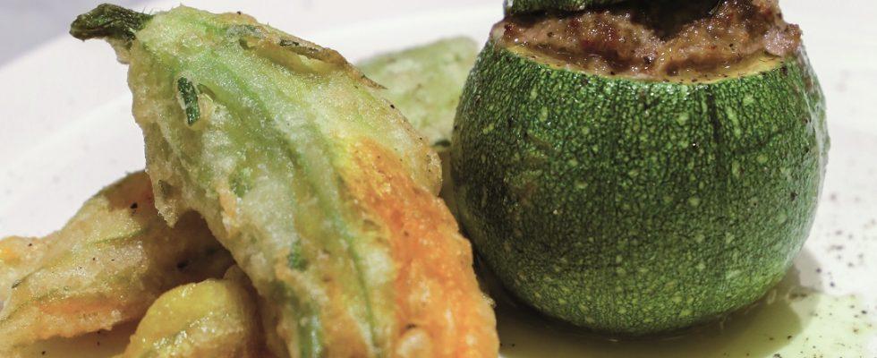 Zucchine tonde ripiene, un secondo piatto sfizioso e ricco