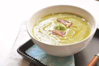 Zuppa tiepida con piselli e fave: con il bimby