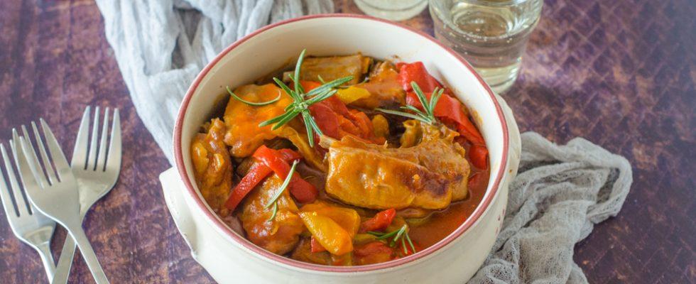 Agnello con peperoni, tradizione meridionale