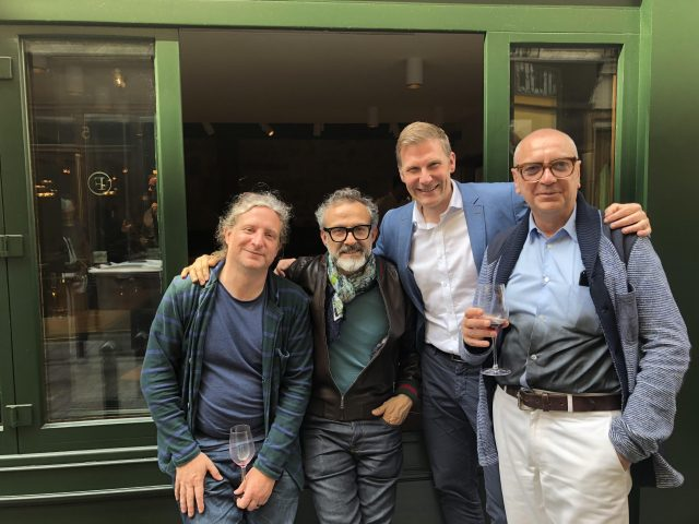 Joe Warwick, Massimo Bottura, Justin Clarke, Andrea Pertrini