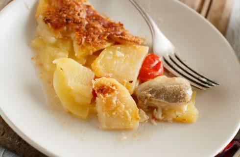 Nasello al forno con patate, il secondo light e gustoso