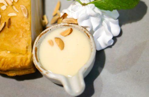 La crema pasticcera con latte di cocco vegan