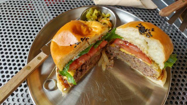 hamburger tagliato