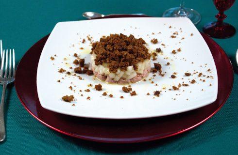 Spuma di foie gras con melone e pan di spezie, un antipasto veloce e raffinato