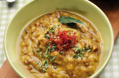 Zuppa di ceci e lenticchie al rosmarino: con il bimby