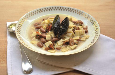 Zuppa di pasta, fagioli e cozze: con il bimby
