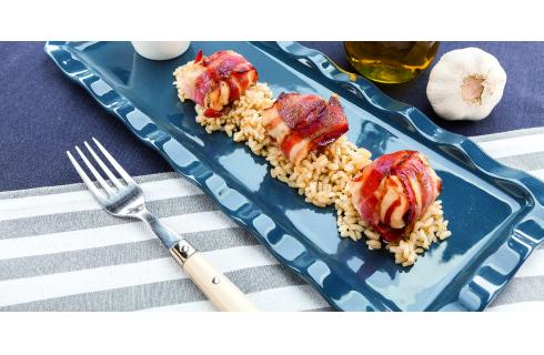 Bocconcini di pollo e pancetta marinati al barbecue: per l'estate