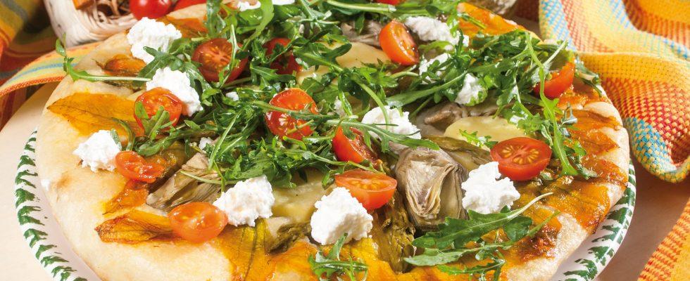 Focaccia di Primavera, un primo piatto vegetariano e saporito
