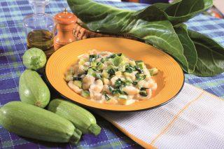 Gnocchetti con zucchine, bietole e taleggio, un primo vegetariano e nutriente