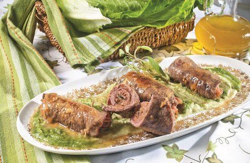 Involtini di scamone con prosciutto e caciotta, un secondo piatto sfizioso che piacerà a tutti