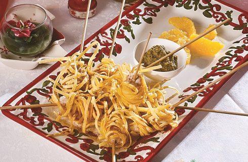Involtini di scampi con salsa al pistacchio, un secondo di pesce e pasta pronto a deliziarvi