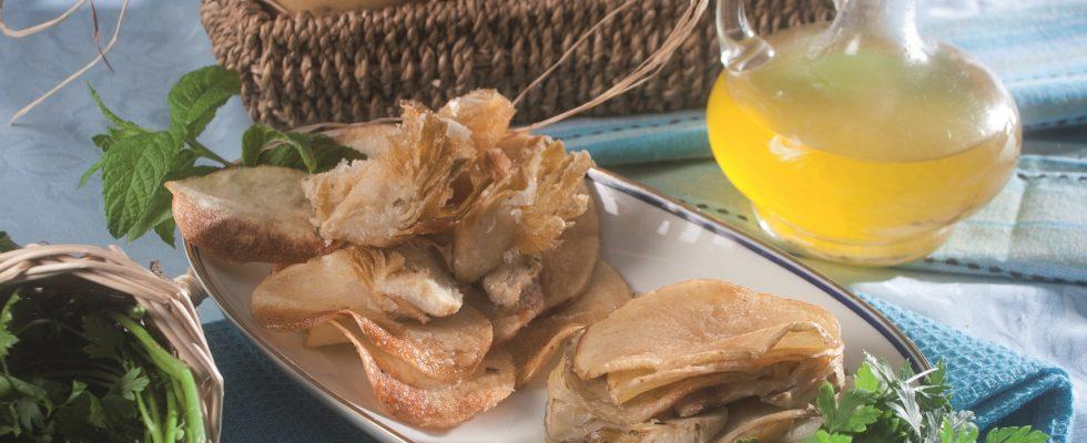 Millefoglie di orata, carciofi e patate, un secondo piatto veloce e sfizioso