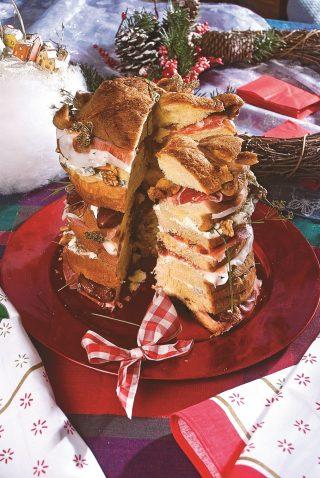 Panettone salato, una torta rustica fantasiosa e saporita