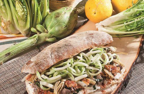 Panino con bollito, ricotta e guanciale, un panino gustoso dall'animo romano