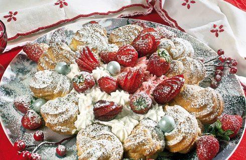 Paris brest alle fragole, un dolce della cucina parigina