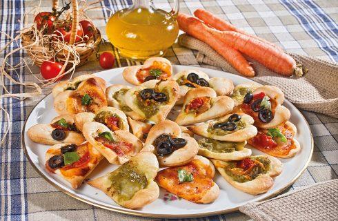 Pizzette alle verdure, un piatto colorato e sfizioso