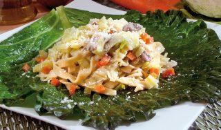 Tagliatelle al ragù di maialino e verza, un primo piatto gustoso
