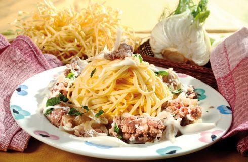 Tajarin con salsiccia e finocchi scottati, un primo dalla tradizione piemontese