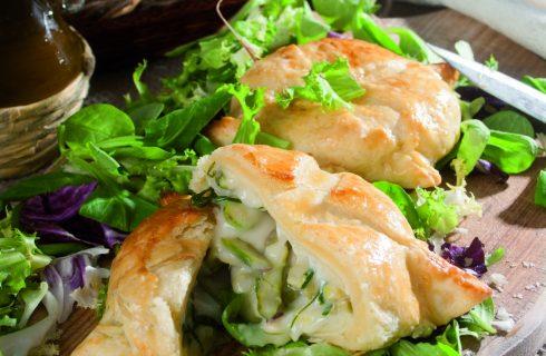 Tomini in pasta sfoglia con verdure croccanti, un antipasto sfizioso e light