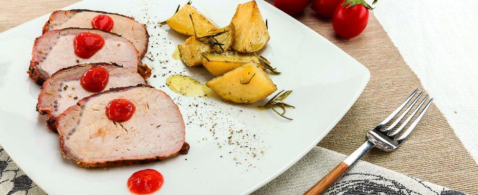 Arrosto di lonza di maiale al barbecue, secondo gustoso