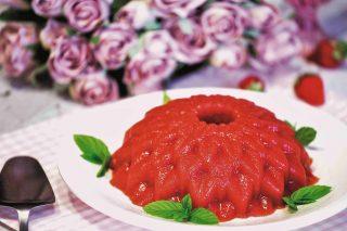 Bavarese alle fragole vegana: per gli innamorati