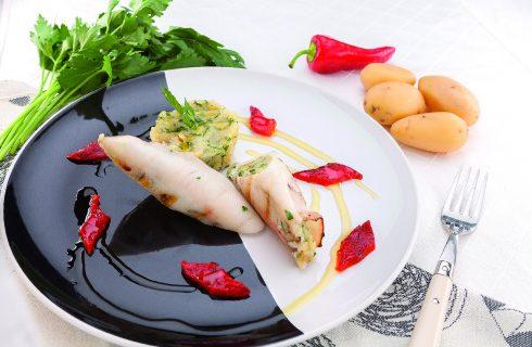 Calamari farciti al barbecue, tradizione mediterranea