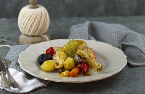 Galletto al forno con verdure: secondo delizioso