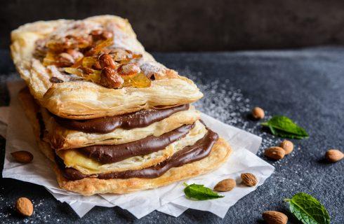 La ricetta golosa della millefoglie con crema pasticcera e nutella