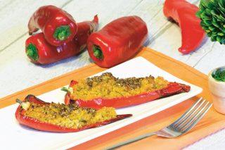 Peperoni alla quinoa: primo vegano