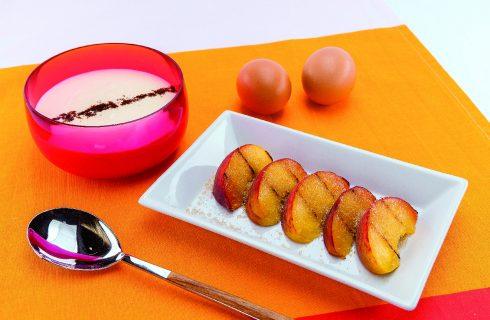 Pesche grigliate con crema al mascarpone al barbecue, goloso dessert estivo