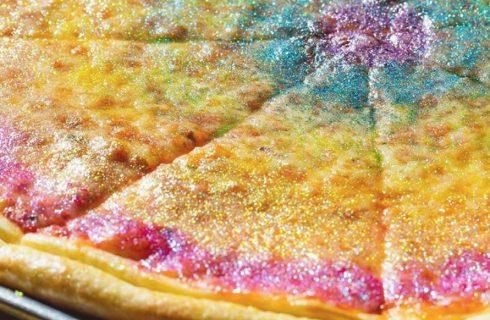 Rainbow glitter pizza: ricetta e consigli per farla in casa