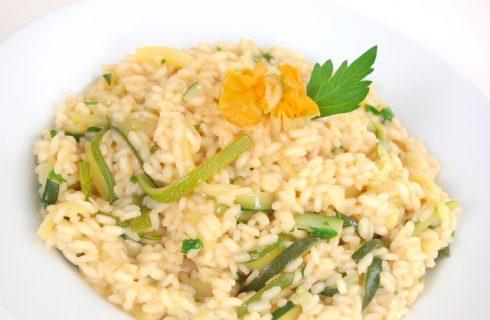 Come preparare il risotto fiori di zucca e gorgonzola