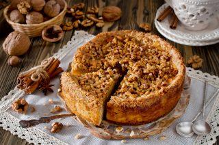 Torta mele e noci: variante croccante