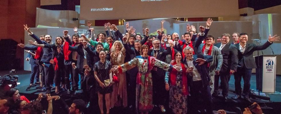 Il palco dei 50 Best diventa l'Oscar dell'impegno