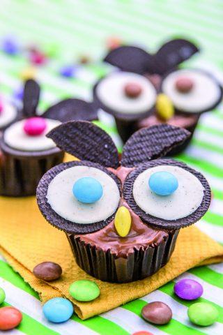 Cupcake con gufo, un dolce bello e goloso
