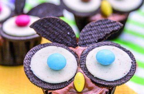 Cupcake con gufo, una dolce bello e goloso