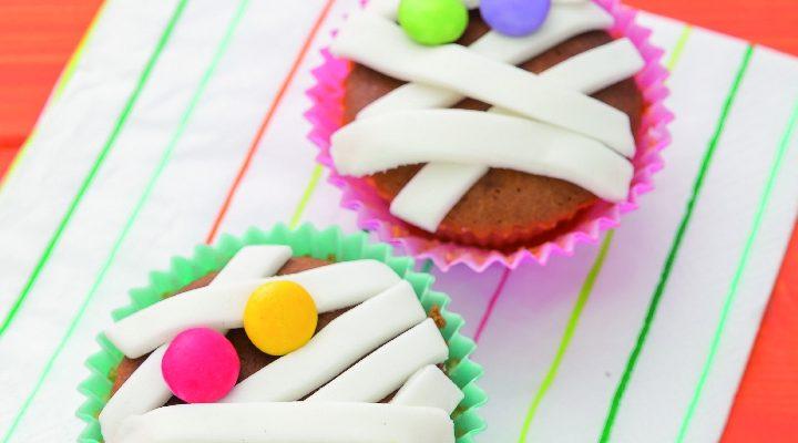 Cupcake di mummia, un dolcetto spaventosamente buono