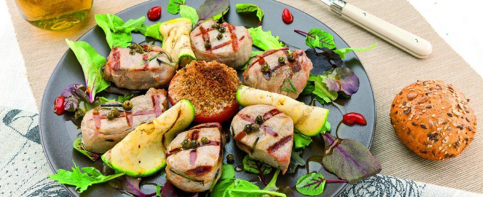 Filetto di maiale al pepe verde al barbecue
