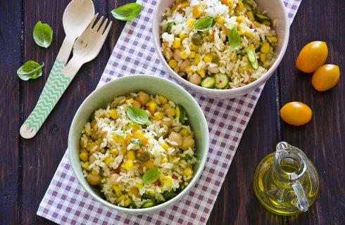Insalata di riso ceci e verdure: per il pin nic