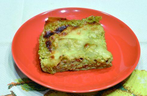 Lasagne al pesto di pistacchio e speck, con il bimby