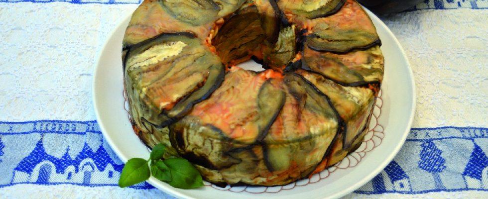 Pasta in guscio di melanzane, con il bimby